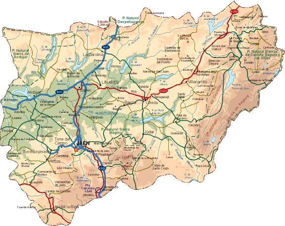 Mapa De Jaen Capital.Jaen Redestravel Espana Tus Redes De Informacion Y